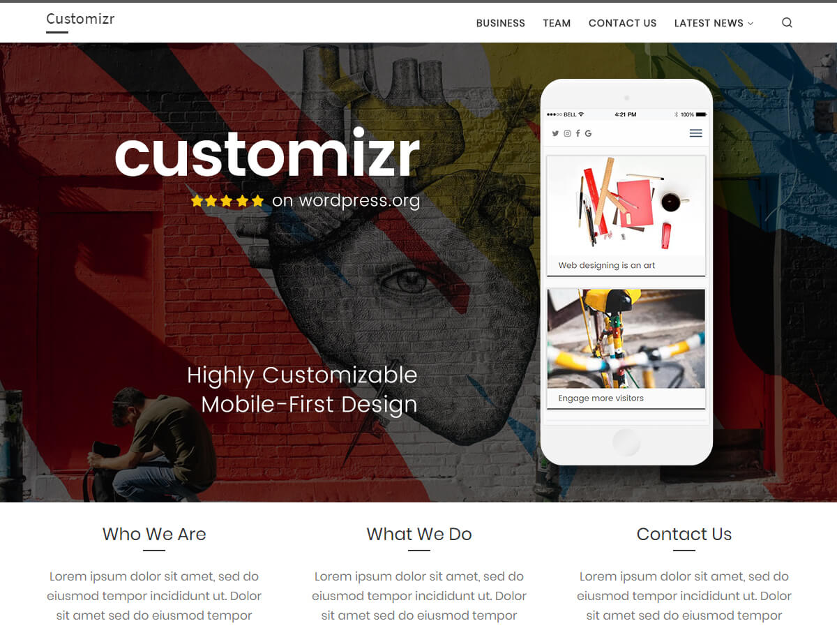 Customizr is a clean responsive theme